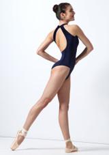 Body Danza in Velluto Mirella Blu indietro. [Blu]