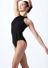 Body Danza in Velluto Mirella Nero davanti. [Nero]