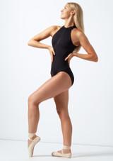 Body Danza a Collo Alto con Cerniera Sul Davanti Bloch Nero davanti. [Nero]