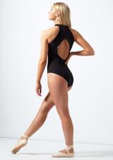Body Danza a Collo Alto con Cerniera Sul Davanti Bloch Nero indietro. [Nero]