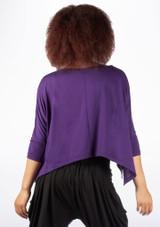Dincwear Maglia corta ali di pipistrello per donna Viola #2. [Viola]