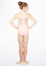 Body spalline sottili e fiocco decorativo Mirella* Rosa. [Rosa]
