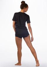 T-shirt danza Plie Kelham Nero indietro. [Nero]