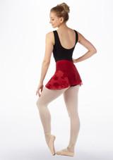 Gonna danza classica con rose Mirella Rosso indietro. [Rosso]