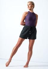 Pantaloncini danza in jersey Cassandra Move Dance Grigio fumo Davanti-1 [Grigio fumo]