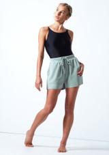 Pantaloncini danza in jersey Cassandra Move Dance Teal  Davanti-1 [Teal ]