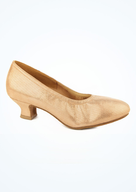 Scarpa lucent in pelle per balli da sala Ans Ray Rose tacco 1.5