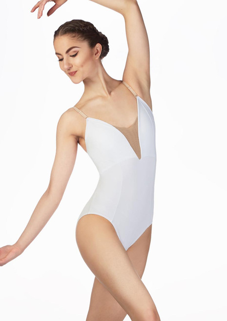 Body Danza con Spalline Sottili Tutu So Danca Nero davanti. [Nero]