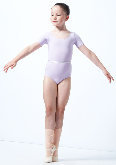 Body Danza Bambina Chloe RAD Freed Viola davanti. [Viola]