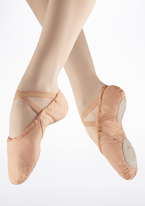 Freed Canvas Split Sole Ballet Shoe in Pink Rosa. [Rosa]