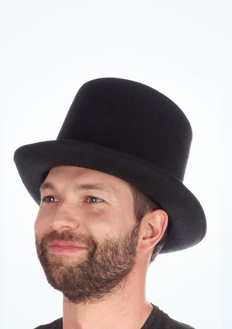 Cappello Cilindro in feltro Nero [Nero]