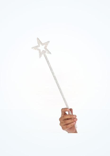 Bacchetta magica con brillantini Bianco. [Bianco]