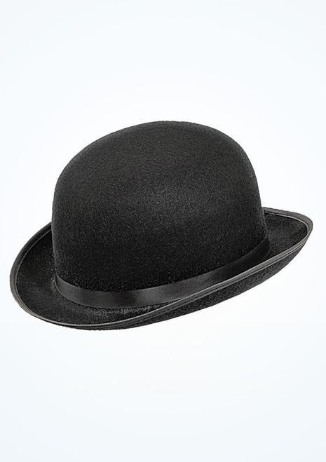 Cappello bombetta in feltro Nero. [Nero]
