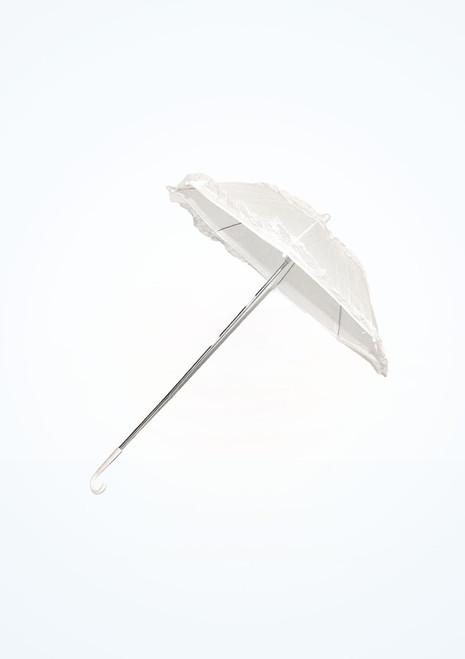 Ombrellino con manico lungo Bianco. [Bianco]