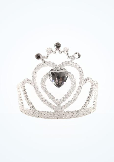 Tiara in argento con pietre chiare. [Argento]