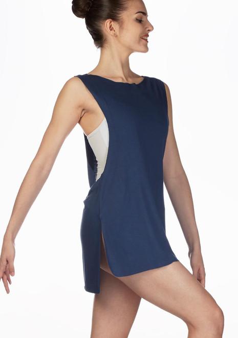 Top tunica coprente Ballet Rosa Grigio davanti. [Grigio]