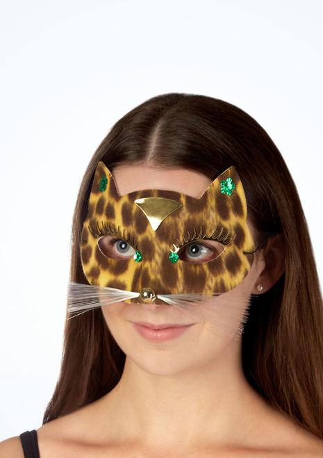 Maschera leopardo con vibrissa Multi-Colore immagine principale. [Multi-Colore]
