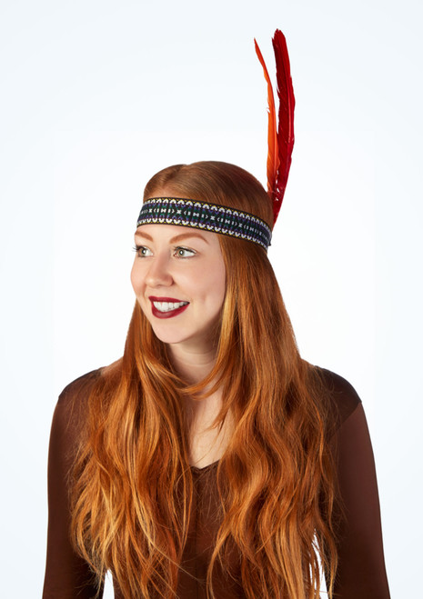 Fascia per capelli con piume Multi-Colore immagine principale. [Multi-Colore]