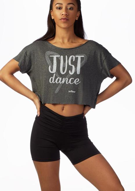 Top Danza Corto Just Dance So Danca Nero davanti. [Nero]