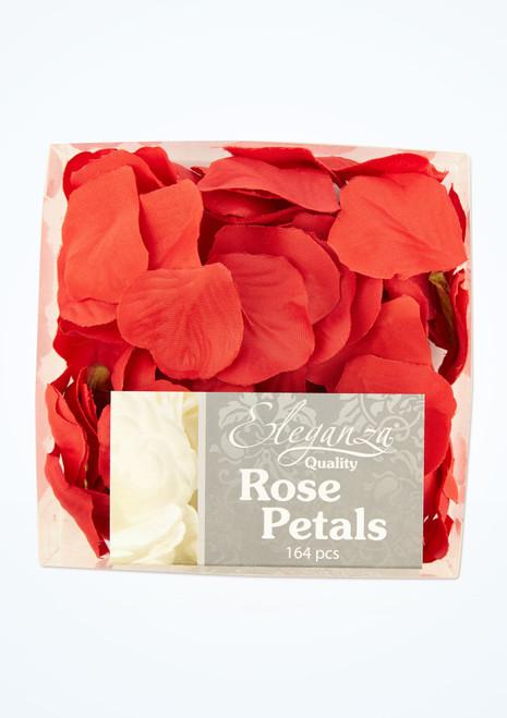 Petali di rosa singoli 164 pezzi Rosso davanti. [Rosso]
