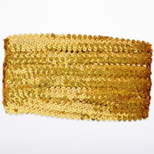 Lustrini elasticizzati 19mm x 10 Oro davanti. [Oro]