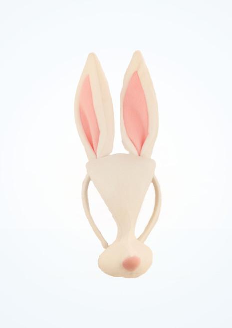 Maschera coniglio Bianco davanti. [Bianco]