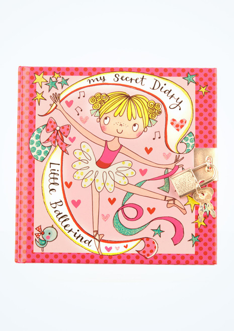 Diario segreto con lucchetto per bambine con ballerina Rosa davanti. [Rosa]