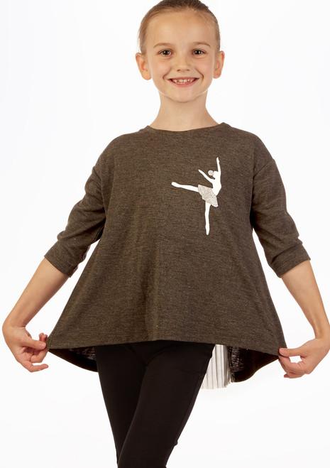 Maglia Ballerina  Move Dance grigio davanti. [Grigio]