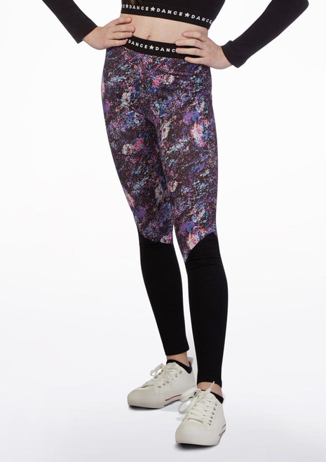 Leggings stampati Move Dance multicolore Multi-Colore davanti. [Multi-Colore]