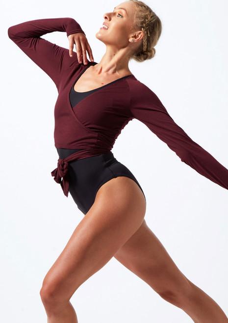 Top da danza con cinturino Move Dance Reach Viola davanti. [Viola]