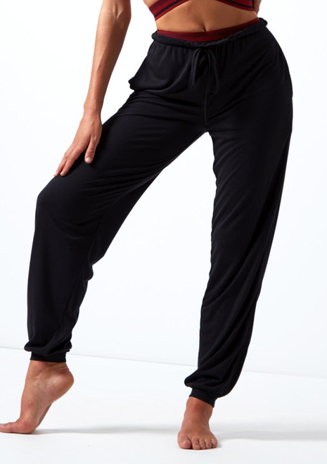 Pantaloni in jersey Move Dance Desire Nero davanti. [Nero]