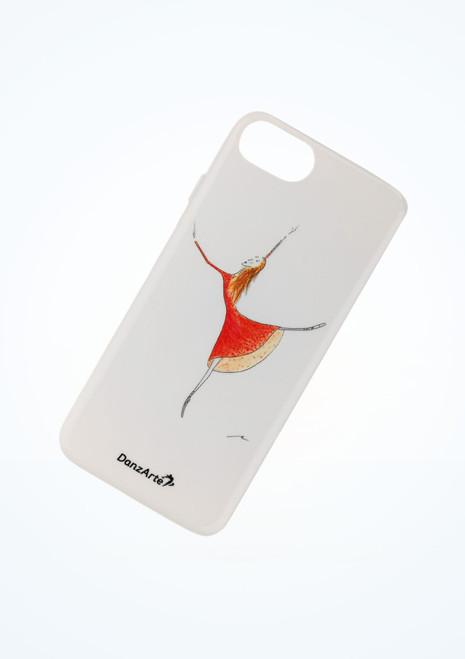 Case per cellulare ballerina rossa iPhone 6/6s/7 Danzarte Bianco immagine principale. [Bianco]