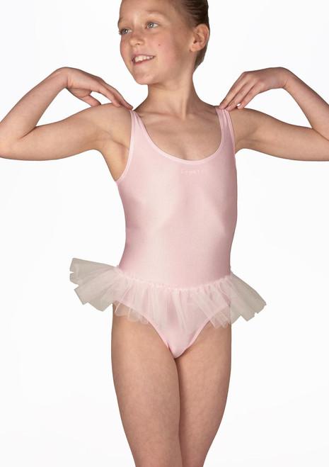 Body Danza Bambina con Gonnellino Debutant Repetto Rosa. [Rosa]