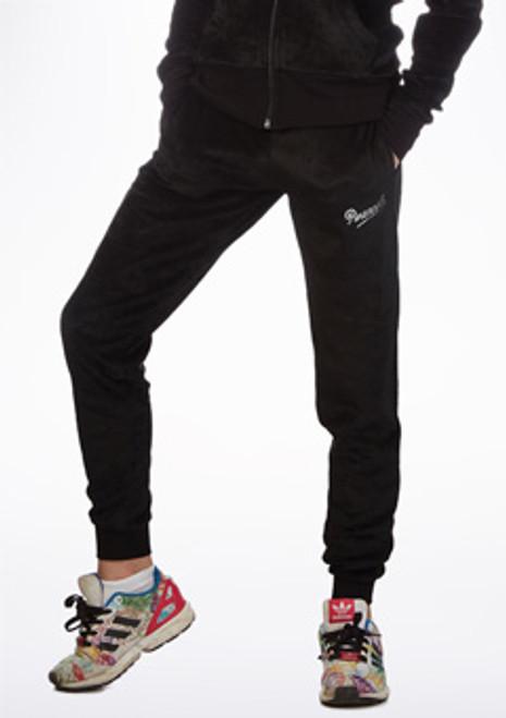 Pantaloni da Ginnastica Modello Stretto Velours Pineapple - Nero