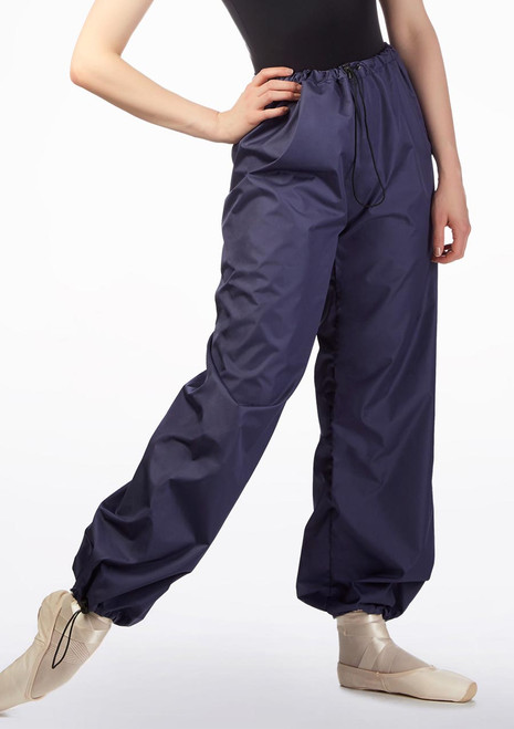 Pantaloni Danza Transpiranti da Riscaldamento Grishko Nero davanti. [Nero]