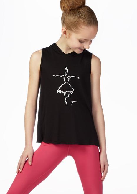 Maglia con cappuccio Ballerina So Danca Nero davanti. [Nero]