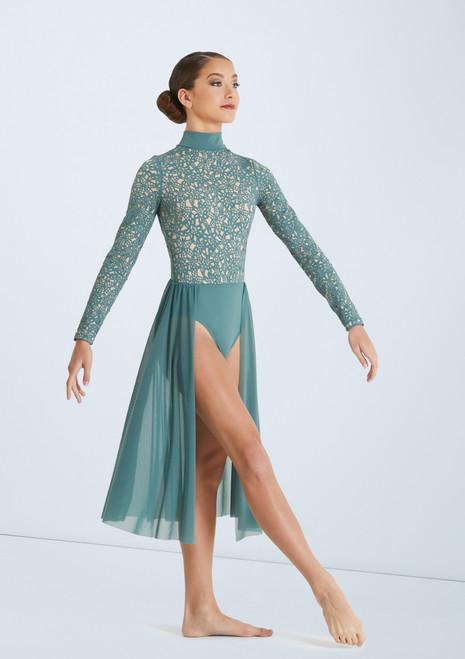 Weissman Laser Cut Floral Dress