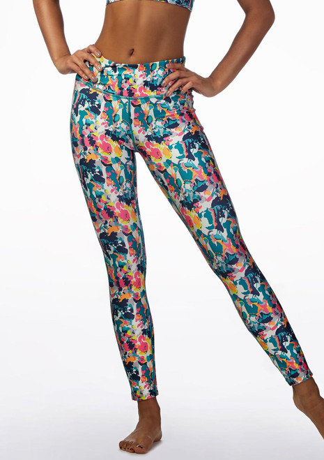 Leggings Fitness Dare2b Multi-Colore davanti. [Multi-Colore]