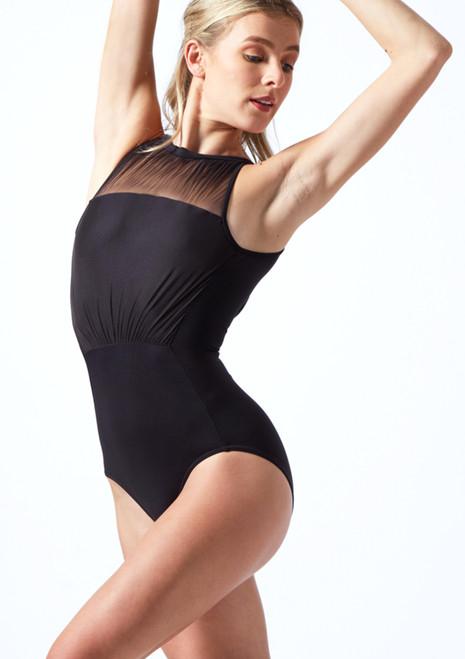 Body Danza con Scollo all'Americana Mirella Nero  Davanti-1T [Nero ]