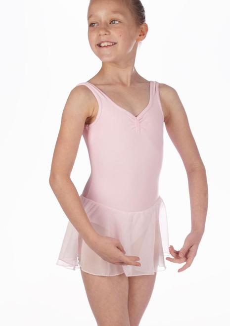 Body Danza Bambina con Gonnellino Debutant Repetto Rosa.
