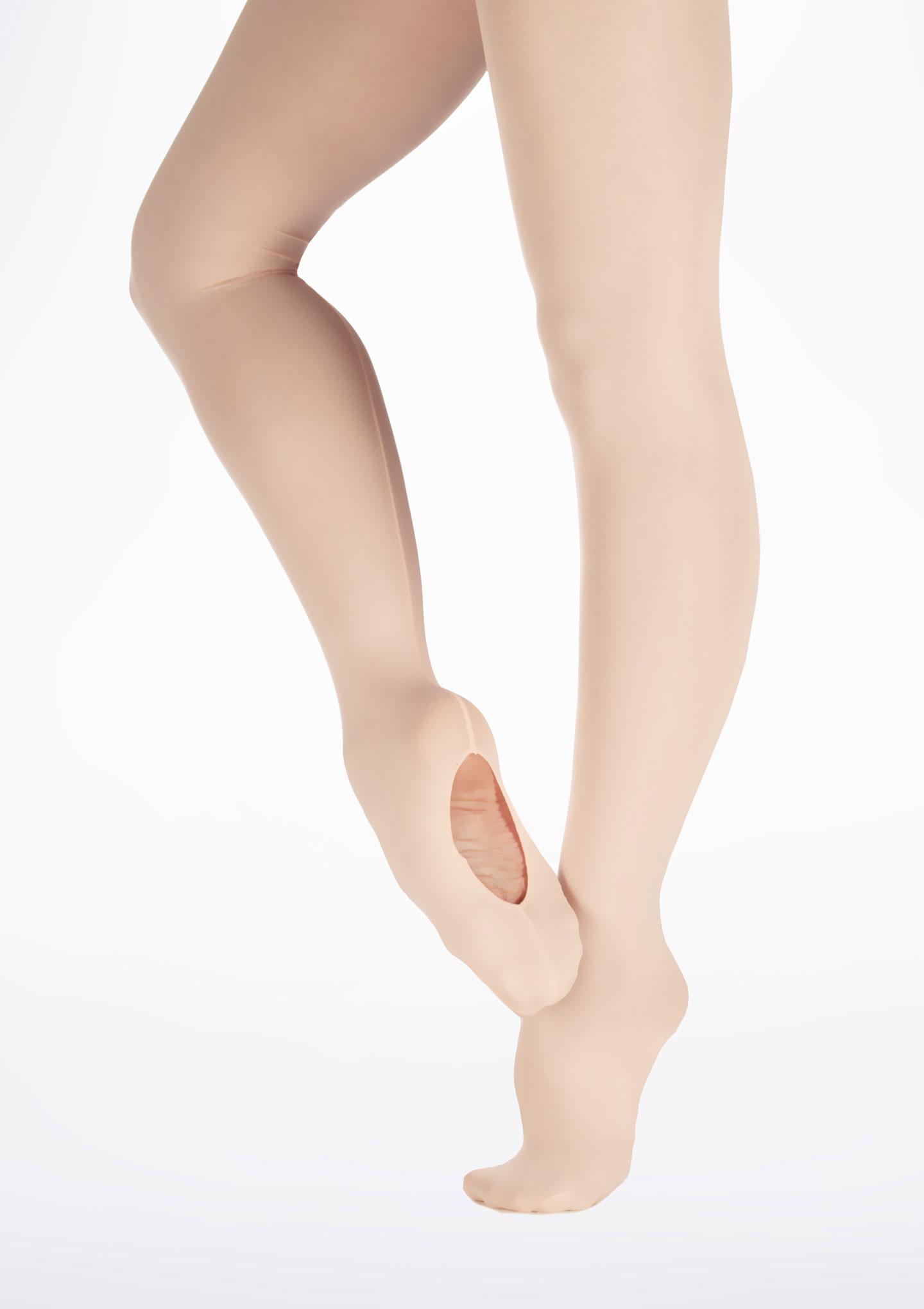 Calze Danza Convertibili con Cucitura Posteriore Move Dance Rosa. [Rosa]