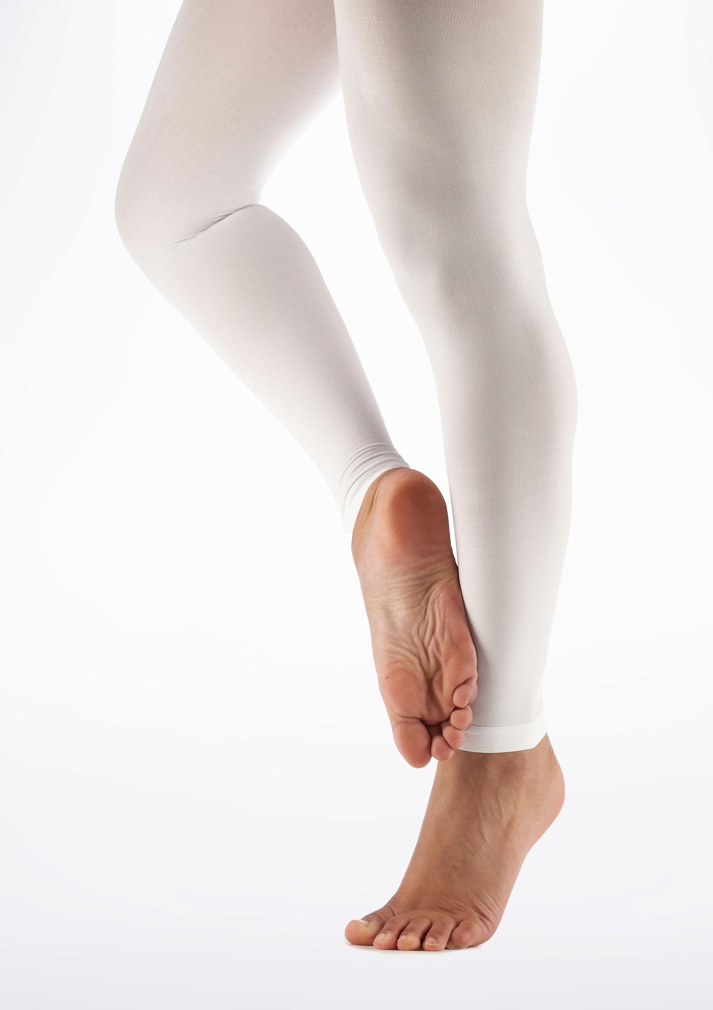 Move Calze da danza in microfibra senza piede Bianco immagine principale. [Bianco]