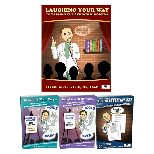 2022 Complete Pediatric Review Package - Laughing Your Way to Passing the Pediatric Boards, Pediatric Board Exam Study Guide, Pediatric Board exam Sample Questions and Answers, MOCA Preparation