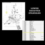 BT-36212  Bolt Catch Lever as seen on Lower Receiver Standard