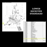 BT-36221 - Magazine Retainer Knob as seen on Lower Receiver Standard