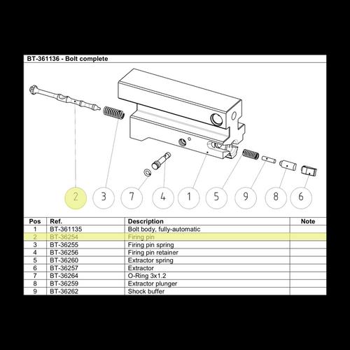 BT-36254  Firing Pin