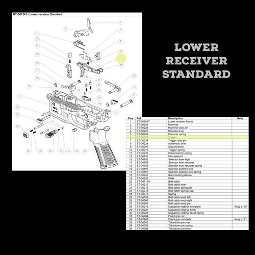 BT-36376  Trigger as seen on Lower Receiver Standard