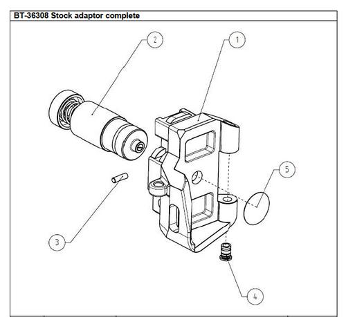 Stock adaptor kit for APC9/45