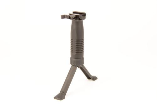 B&T Unigrip QD with bipod - Unigrip made of polymer - Bipod made of aluminum - Color black