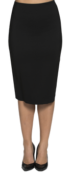 Joanne Martin Long skirt with back pleat